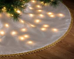 light up christmas skirt button tree skirt etsy