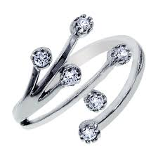 sale silver rings images 925 sterling silver cz cluster design toe ring sale gif