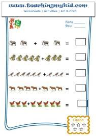 free printable kindergarten worksheets pictorial addition 3