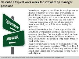 software qa manager resume sample software qa manager interview questions