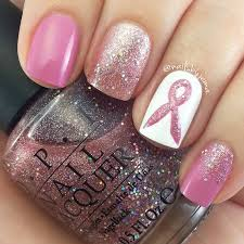 nails by jema going pink for october and breast cancer awareness