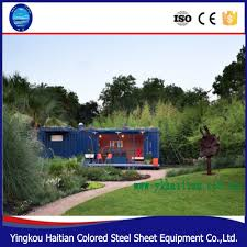 prefabricated glass house cheap price 20ft 40ft living shipping