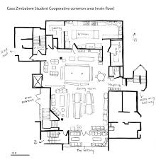 Yoga Studio Floor Plan by It U0027s A Co Op Casa Zimbabwe Student Co Op House Berkeley