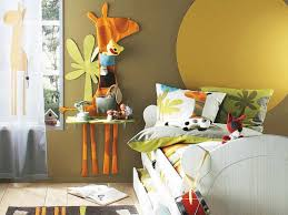 Yellow Mustard Color Yellow Mustard Kids Bedroom Paint Color With Giraffe Wall Art