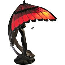 shop for karlie flying lady red 2 light tiffany style table lamp