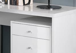 caisson de bureau blanc bureau d angle design avec caisson coloris blanc laqué sévina