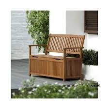 Eucalyptus Bench - wooden garden storage bench seat box patio porch deck eucalyptus