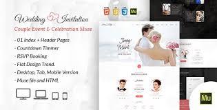 free muse template download wedding invitation couple event u0026 celebration muse template