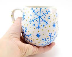 Crazy Cool Mugs Simple Hand Painted Snowflake Winter Mugs Ilovetocreate
