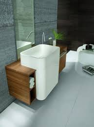 drop in bathroom sinks mirror storage design wooden cabinets two