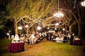 outdoor wedding reception venues green and purple outdoor wedding in charleston south carolina