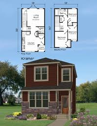 narrow cottage plans small one house plans for narrow lots lovely cottage plan