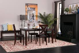 Side Chairs For Dining Room by Dakota 5 Piece Dining Table W Side Chairs Living Spaces