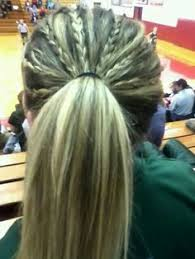 Cute Sporty Hairstyles High Styling Hair Made With A Braid Softball Hair Liberty And