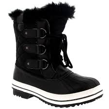 womens quilted boots uk womens boot fur winter quilted warm
