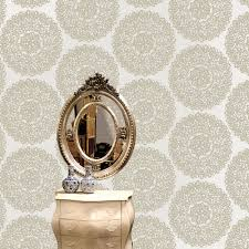 B Q Living Room Design Statement Beige U0026 Taupe Kenitra Mica Effect Wallpaper Taupe