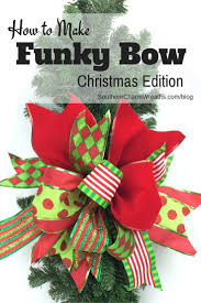 how to make a funky bow christmas edition wreaths craft and