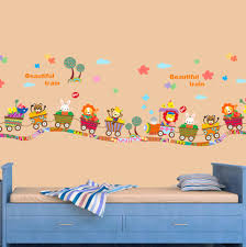 kids room interior wall decoration with kid decals for full size aliexpress com buy beautiful train vinyl wall stickers for kids rooms girls boy home decor living