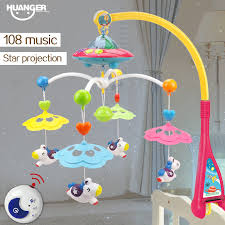 aliexpress com buy huanger musical crib mobile bed bell baby