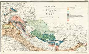 Geography Map Geography Of Himalayas Charts From 1933 Mcadd Pahar