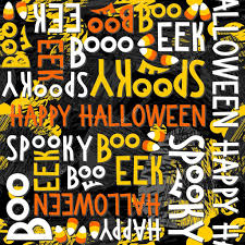 orange black halloween background happy halloween white black yellow orange letters and sweets