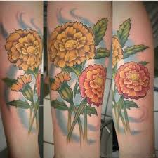 marigold tattoo flash pictures to pin on pinterest tattooskid