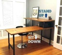 Sit Stand Office Desk Jesper Sit Stand Desk To Lovely Reviews Interque Co