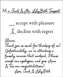Sample Rsvp Cards Sticky Situations How To Properly Decline A Wedding Invitation