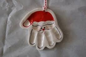 salt dough santa handprint ornaments 1 2 cup salt 1 2 cup flour