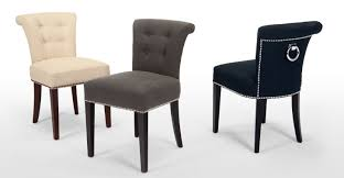 chair furniture navy blue fabric diningairs abbyston living