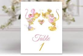 minnie mouse card table mickey minnie mouse wedding table numbers mickey watercolor
