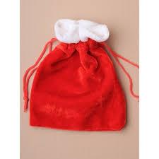drawstring gift bags sack velvet christmas santa sack drawstring gift bag approx