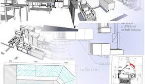 plan cuisine restaurant normes conception cuisine professionnelle plan technique normes paribar