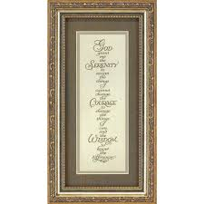 serenity prayer picture frame of the lord