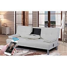 Corner Sofa With Speakers Corner Sofa Bed Santi In Dark Grey U0026 White Fabric U0026 Leather