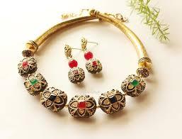 long gold necklace sets images Antique gold necklace set designer antique gold jewellery set at jpg
