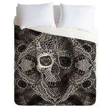 ali gulec lace skull duvet cover lace skull duvet and throw pillows