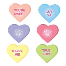 heart candy sayings valentines clipart image s day heart candies with