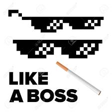 Black Glasses Meme - pixel glasses vector like a boss thug lifestyle for meme photos