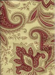 Dining Room Valances by Rustic Retreat Crimson Red Creams And Taupe Colors For Paisley