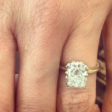 gold cushion cut engagement rings 25 best elongated cushion cut images on ring