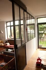porte coulissante separation cuisine separation vitrée type atelier avec porte coulissante portes
