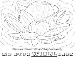 birth affirmation coloring page free printable my body will