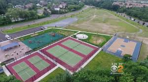 tennis courts are too short at brand new park on long island cbs