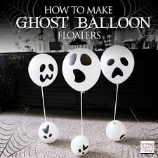 diy ghost balloon floaters halloween decorations soiree event design