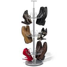 the space saving 18 pair shoe rack hammacher schlemmer