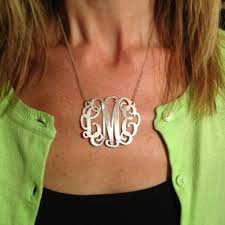 sterling silver monogram necklace pendant monogram product categories spirit filled designs