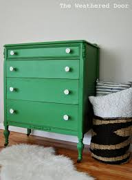 White Rose Furniture A Mossy Green Dresser With White Rose Knobs The Weathered Door