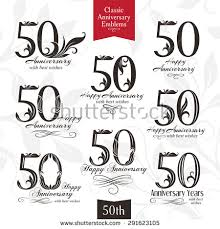 Wedding Wishes Logo 50th Wedding Anniversary Stock Images Royalty Free Images