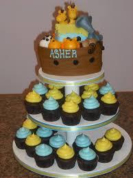 sprinklebelle noah u0027s ark baby shower cake cupcake tower